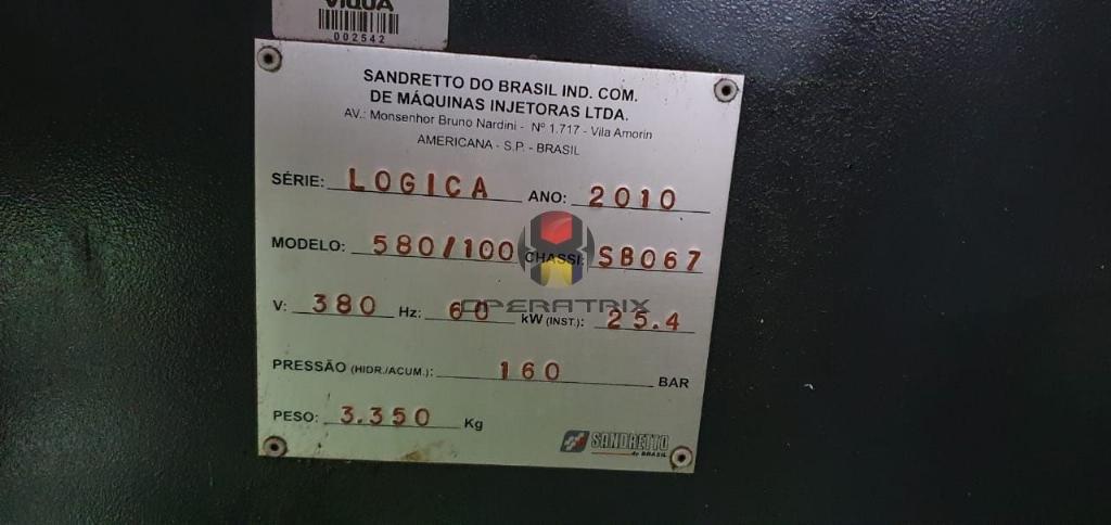 Foto: INJETORA DE PLÁSTICO SANDRETTO - LOGICA 580 /100 t  - ANO 2010