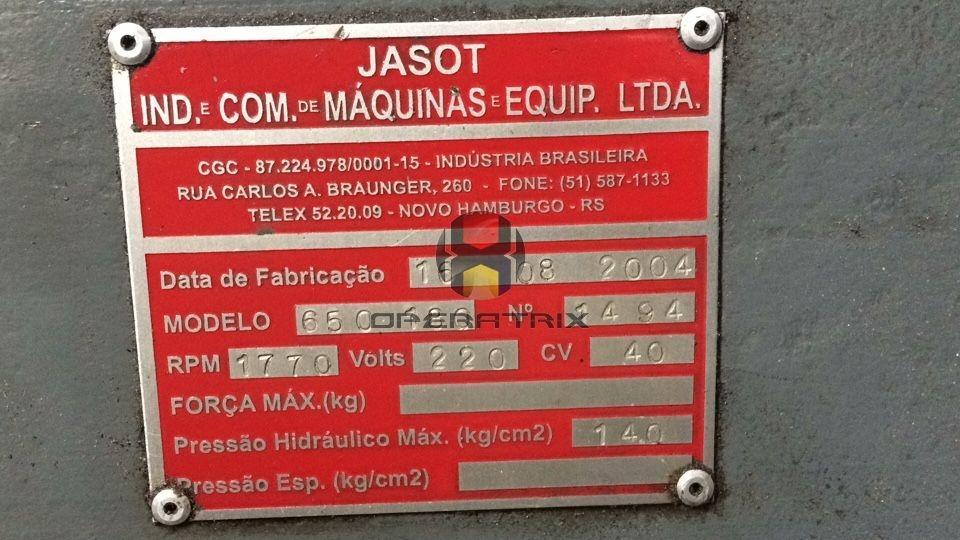 Foto: INJETORA DE PLASTICOS JASOT 650 / 180 ANO 2004