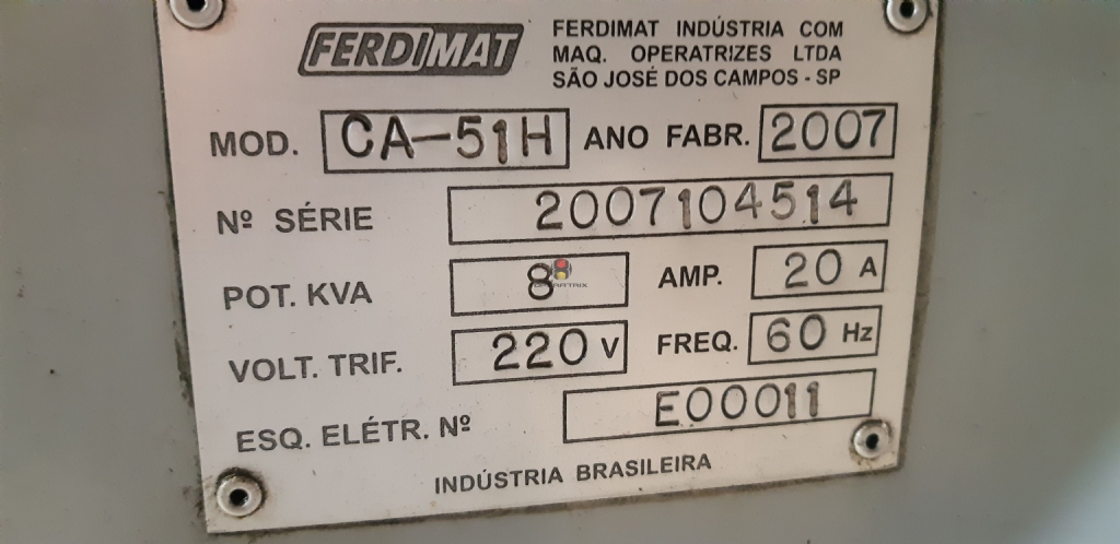 Foto: AFIADORA UNIVERSAL FERDIMAT CA -51H -ANO 2007
